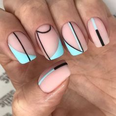 Discover new and inspirational nail art for your short nail designs. Simple Nail Art Designs, Short Nail Designs, Easy Nail Art, Simple Art, Striped Nail Designs, Aycrlic Nails, Hair And Nails, Nail Nail, Red Nail
