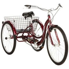 """26\"""" Schwinn Meridian Adult Tricycle in Cherry, Blue, Silver, or Mint Green ** You can find out more details at the link of the image."""