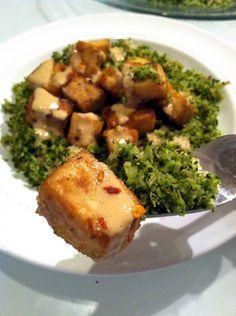 Garlic Tahini Tofu & Broccoli Rice