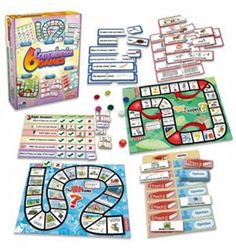 6 Comprehension Games The design of these games covers simple understanding of words and meaning. Children will love using their comprehension skills to complete each activity and win the game. Speech And Language, Language Arts, Fact And Opinion, Word Puzzles, Different Games, Learning Colors, Educational Games, Matching Games, Teaching Reading