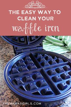 The Easy Way to Clean Your Waffle Iron (and other tricky appliances you can't wash in sink or dishwasher) Household Cleaning Tips, House Cleaning Tips, Diy Cleaning Products, Cleaning Hacks, Cleaning Solutions, Waffle Maker Recipes, Comfort Food, Pancakes And Waffles, Making Waffles
