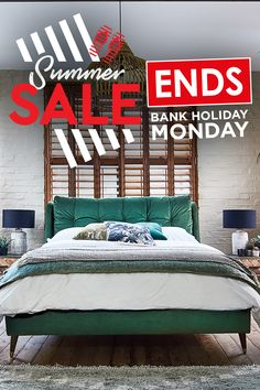 Our sunsational Summer Sale is ending!   Hurry! Shop now for up to 25% off across a wide range of fabulous bed frames.