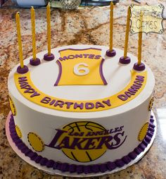 Lakers 6th Birthday Basketball Cakes My Cake 17th Party