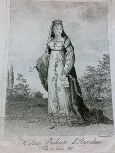 Marie-Therese, duchesse d'Angouleme (1778-1851), 19th C engraving
