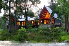 hefferlin + kronenberg architects places tellico cabin in tennessee