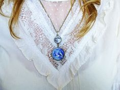 Earth and Moon Necklace Solar System by SunandStarsJew3lry on Etsy