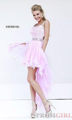 Sherri Hill Pink High Low Dress 9712 at PromGirl.com http://www.promgirl.com/shop/dresses/viewitem-PD1207790