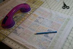 measuring for hanging potholder dish towel