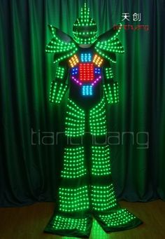 TC-0130 Full Color Stilt Walkers' LED Robot Costumes