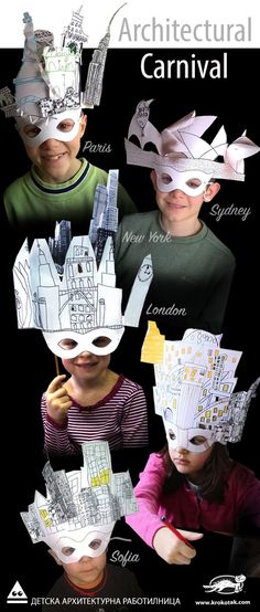 Architecture Carnival for Kids | Great carnival idea of Kids' Architecture Workshop. Kids love to build.. bring out their creative side, make paper masks with famous buildings from all over the world.