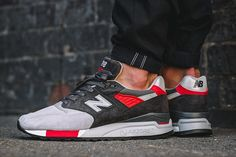 New Balance 998 Made in USA (Grey/Red)
