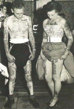 Petticoat & Tattoos - women WERE tattooed in the 50s!