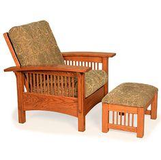 Amish Made Carmichael Mission Morris Chair