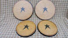 Electronics, Cars, Fashion, Collectibles, Coupons and Country Crafts, Country Decor, Stove Burner Covers, Primitive Decor, Black Star, Country Farmhouse, Hand Painted, Rustic, Decorating