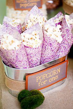 Popcorn bar for cocktail hour