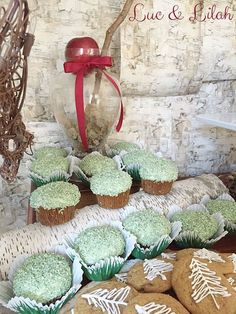 """""""Moss"""" Covered Cupcakes from a Snow White Enchanted Forest Birthday Party via Kara's Party Ideas KarasPartyIdeas.com (20)"""