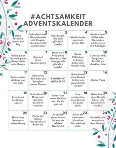 Mindfulness Advent Calendar - 24 days for more self-care in the pre . Achtsamkeit-Adventskalender – 24 Tage für mehr Selbstfürsorge in der Vorweih… Mindfulness Advent Calendar – 24 days for more self-care in the run up to Christmas – Women at Work Advent Calenders, Diy Advent Calendar, Pre Christmas, Christmas Crafts, Christmas Ideas, Xmas, Diy Cadeau, Christmas Activities, Self Care