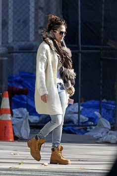Jennifer Lopez in... what else? @timberland Classics, available with #free2dayshipping for @shoprunner members