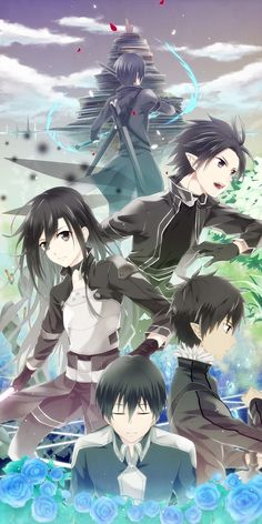 The many looks of Kirito.