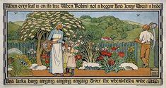 wallpaper vintage arts and crafts | Heywood Sumner, arts and crafts movement, vintage poster