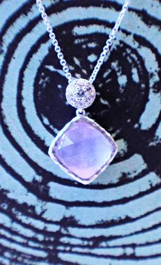 The hypotic beauty of this amethyst shaded necklace is unmatched.