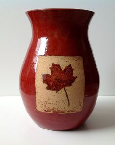 SALE  Maple Leaf Vase by SpicedEarthPottery on Etsy, $28.00