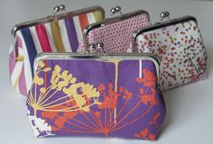 Piper Frame Purses | Dear Stella Design  This tute gives some nice tips about top-stitching