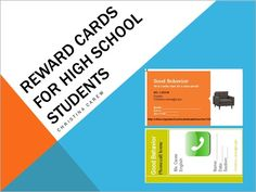 Reward Cards for Secondary Students - Free rewards for high school students - Follow this blog!