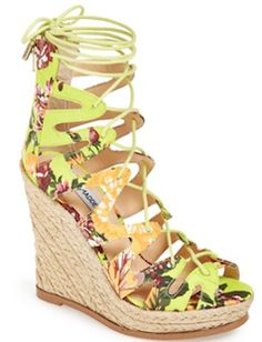 Lace up the ankle summer wedges