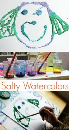 Salty Watercolors - A Fun Kids Art Project