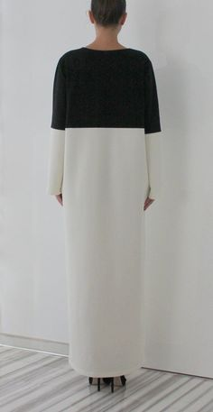 Awesome Plus Size Black Dresses Black and White Maxi dress, Caftan, Plus size dress, Long Dress, Long sleeves dress, Fall Winter dress,  Party dress Check more at http://24myshop.cf/fashion-style/plus-size-black-dresses-black-and-white-maxi-dress-caftan-plus-size-dress-long-dress-long-sleeves-dress-fall-winter-dress-party-dress/