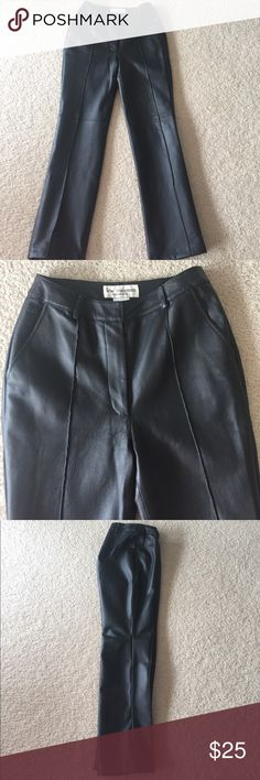 Women's leather pants Heavy leather pants. Excellent condition. Worn once! lew magram Pants Straight Leg