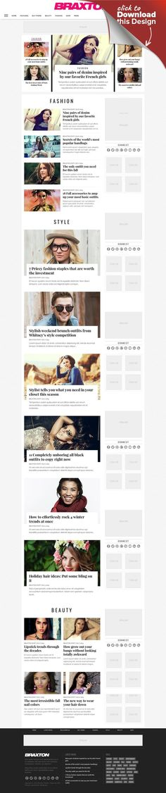 Braxton - Premium WordPress Magazine Theme blog, clean, fashion, gallery, magazine, news, newspaper, rating, responsive, retina, review, seo, theme, video, wordpress Last update: Version 3.03.0 – April 30, 2017 Braxton is the premier magazine theme that combines both form and function into one comprehensive Wordpress theme. This sleek, modern theme is retina-ready, fully-responsive and comes with four different ad units, including a custom...