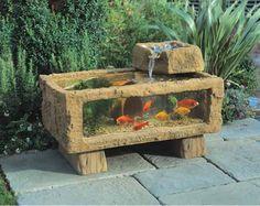 Porch Ponds   All Seasons 150 Patio Aquarium with Keystone Cascade - GardenSite.co ...