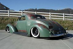 Ford Coupe ((the color i want for Bettie)) Vintage Trucks, Old Trucks, Dodge Trucks, Chevrolet Trucks, Rat Rods, Pick Up, Traditional Hot Rod, Sweet Cars, Us Cars