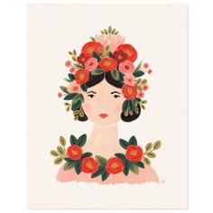 This bright Rosa print is designed by Rifle Paper. Each colourful print is created from an original gouache painting and is an archival quality Art And Illustration, Illustrations, Anna Rifle Bond, Anna Bond, Tattoo Muster, Image Deco, Guache, Rifle Paper Co, Gouache Painting