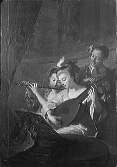 Le concert ou l'accord parfait; Troy Jean-François de (1679-1752)  http://lute.musickshandmade.com/paintings/view/345#sthash.4e19HLHe.dpuf