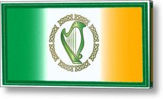 Irish Harp Acrylic Print By Ireland Calling. More quality prints available at our Ireland Calling Store.