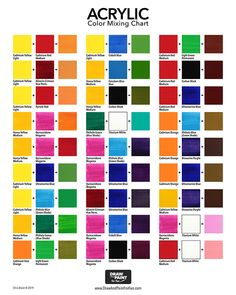 Prototypal Color Chart For Mixing Acrylic Paint How To Mix Acrylics To Get Magenta