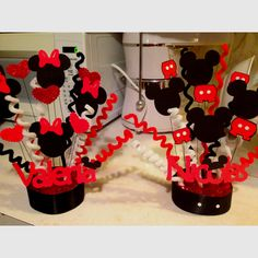 Mickey and Minnie mouse party theme