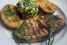 Gegrillte Schwertfisch - Steaks mit Avocado - Salsa (Rezept mit Bild) | Chefkoch.de