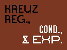 Kreuz typeface