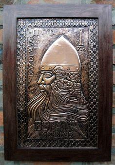 Arte em Cobre, produzida a partir da releitura de selo espanhol feito em homenagem a El Cid.