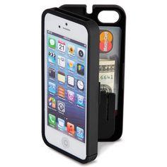 The iPhone 5 Polycarbonate Wallet. (Black) - Hammacher Schlemmer