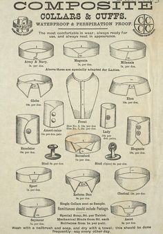 Collars & Cuffs - vintage catalog printable