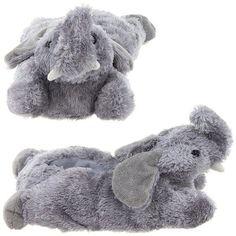Elephant Animal Slippers for Women Medium
