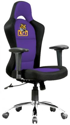 Lsu Tigers Leather Office Chair