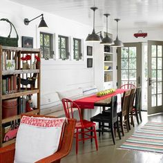 Craig Kettles / C Designs via Desire to Inspire {gray, white and red rustic dining room} by recent settlers, via Flickr