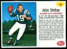John Unitas - 1962 Post Cereal #90