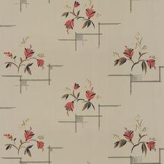 Katarina, ett utsökt blommönster med anor från 1920-talet. Elegant, nätt och sirligt med en aning japanska influenser. Passar utmärkt i sovrum, kök och arbetsrum.